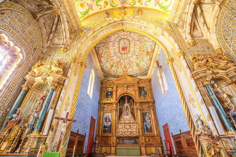 De Universitaire kapel van Coimbra stock afbeelding