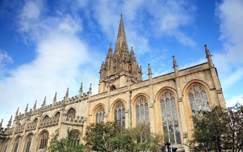 De Universitaire kerk van Oxford stock afbeeldingen