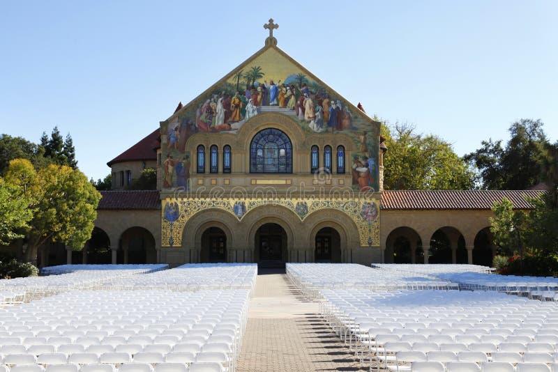 De universitaire kerk van Stanford stock afbeelding