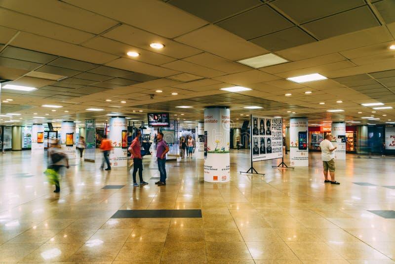 De Universitaire Onderdoorgang in Boekarest stock afbeelding