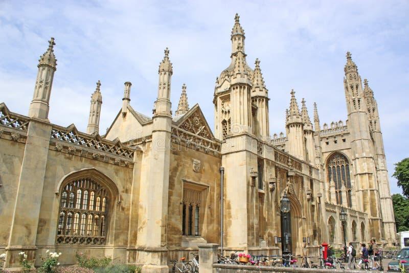 De Universiteit Cambridge van koningen stock foto's