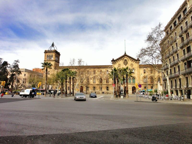 De universiteit van Barcelona royalty-vrije stock afbeelding