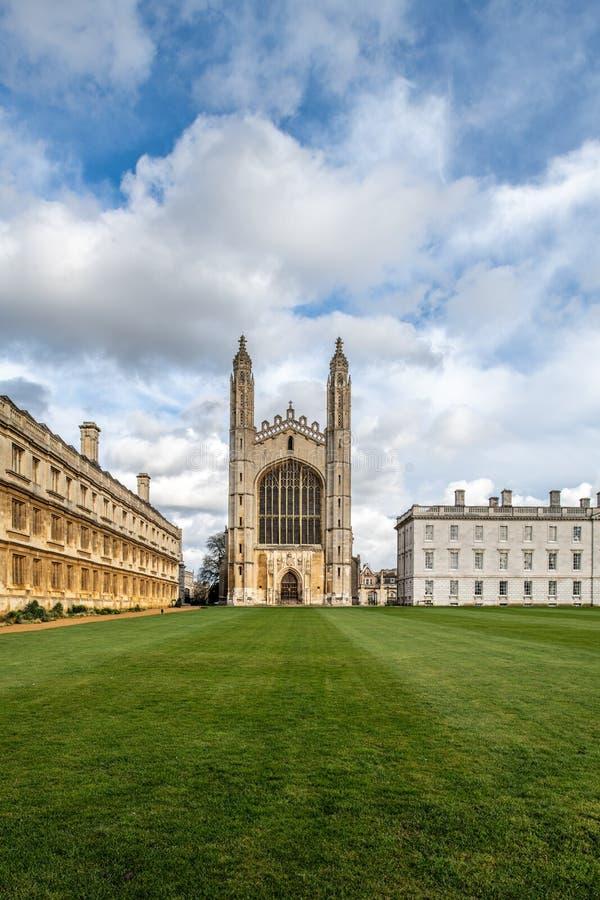 De Universiteit van de beroemde Koning in Cambridge, het UK royalty-vrije stock foto