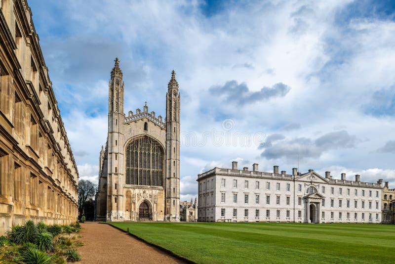 De Universiteit van de beroemde Koning in Cambridge, het UK royalty-vrije stock afbeelding