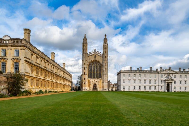 De Universiteit van de beroemde Koning in Cambridge, het UK stock foto