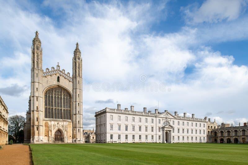 De Universiteit van de beroemde Koning in Cambridge, het UK stock foto's