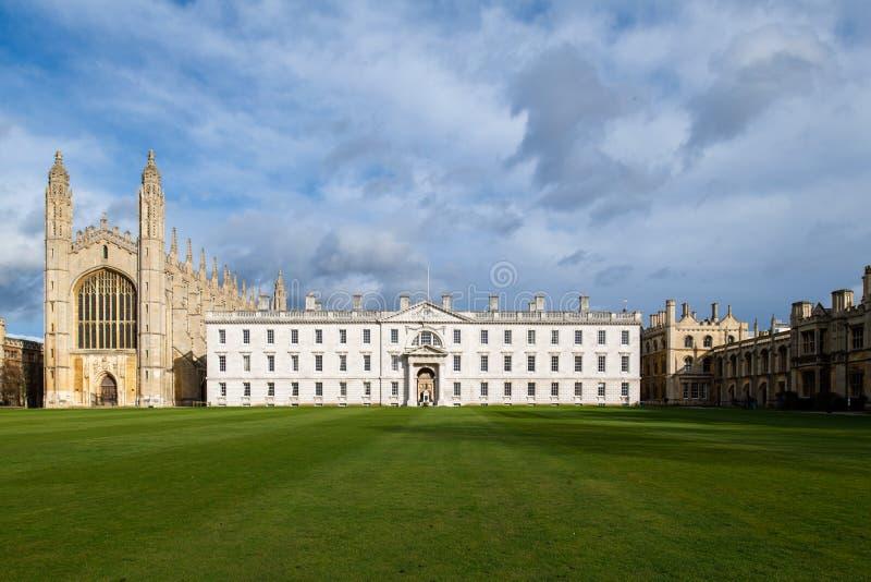 De Universiteit van de beroemde Koning in Cambridge, het UK royalty-vrije stock afbeeldingen
