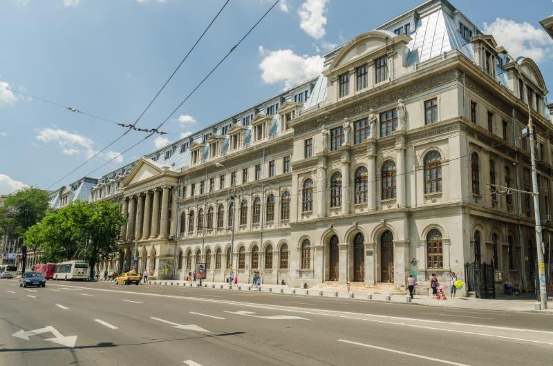 De Universiteit van Boekarest royalty-vrije stock afbeeldingen