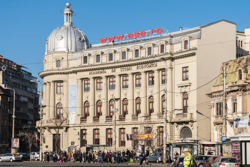 De Universiteit van Boekarest van Economische Studies royalty-vrije stock afbeeldingen