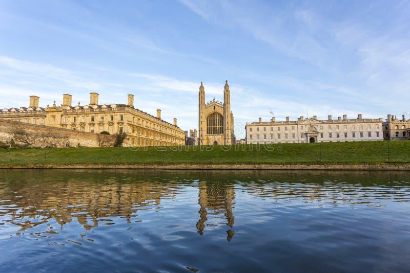 De universiteit van Cambridge is een collegiale openbare onderzoekuniversiteit in Cambridge, Engeland Opgericht in 1209 royalty-vrije stock foto