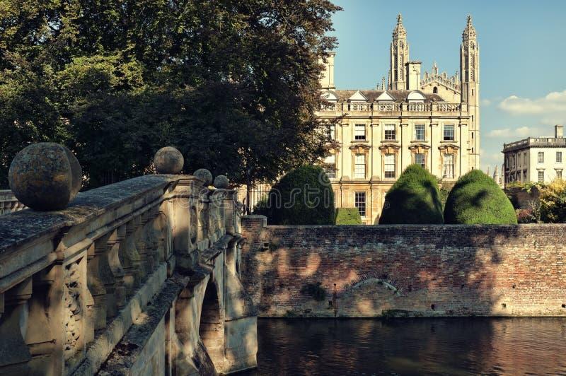 De Universiteit van Clare, Cambridge stock foto