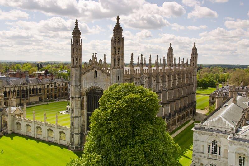De Universiteit van de koning in Cambridge stock fotografie