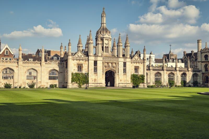 De Universiteit van de koning `s, Cambridge stock fotografie