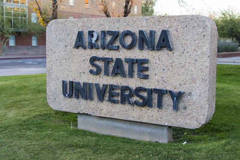 De Universiteit van de Staat van Arizona royalty-vrije stock afbeeldingen