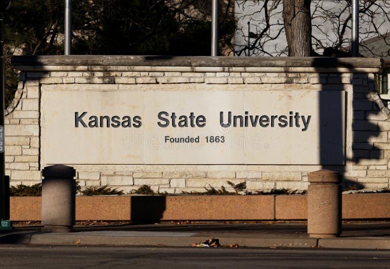De Universiteit van de Staat van Kansas stock fotografie