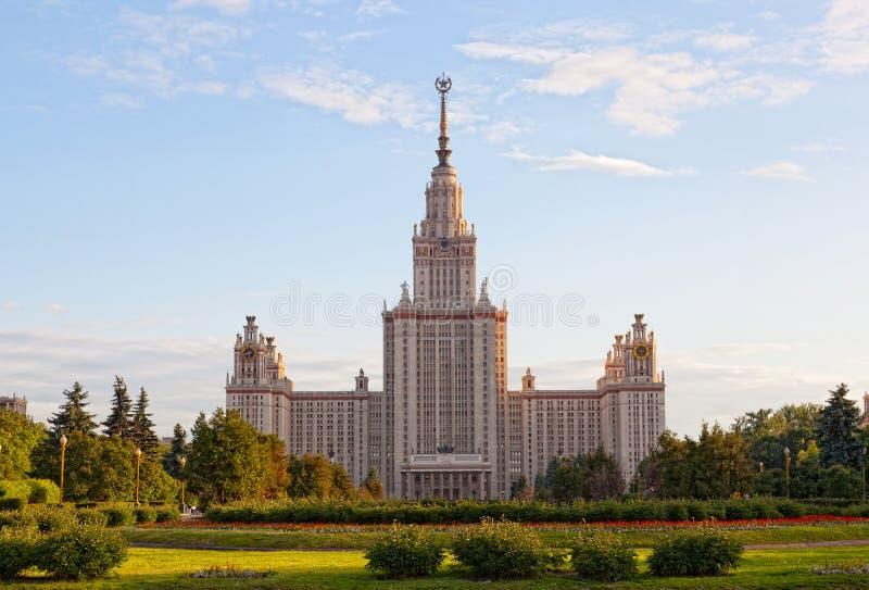 De Universiteit van de Staat van Moskou royalty-vrije stock fotografie