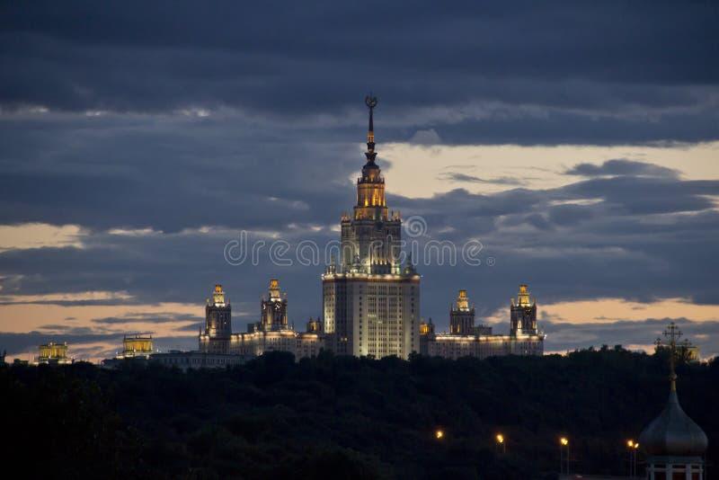 De Universiteit van de Staat van Moskou stock foto's