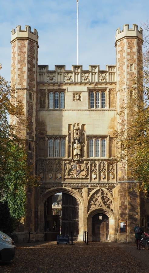 De Universiteit van de drievuldigheid in Cambridge royalty-vrije stock afbeelding