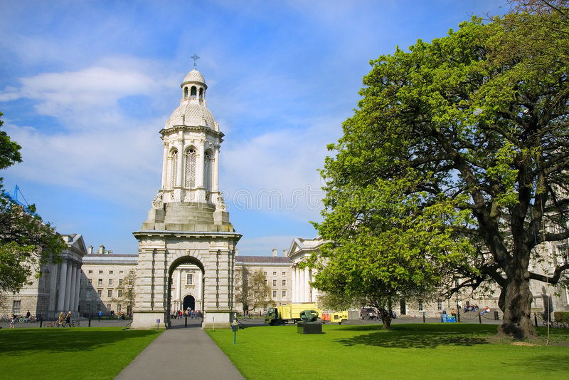De Universiteit van Dublin stock foto's