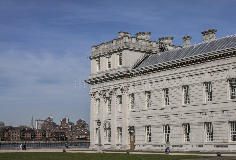 De universiteit van Greenwich, zonnig weer stock afbeelding