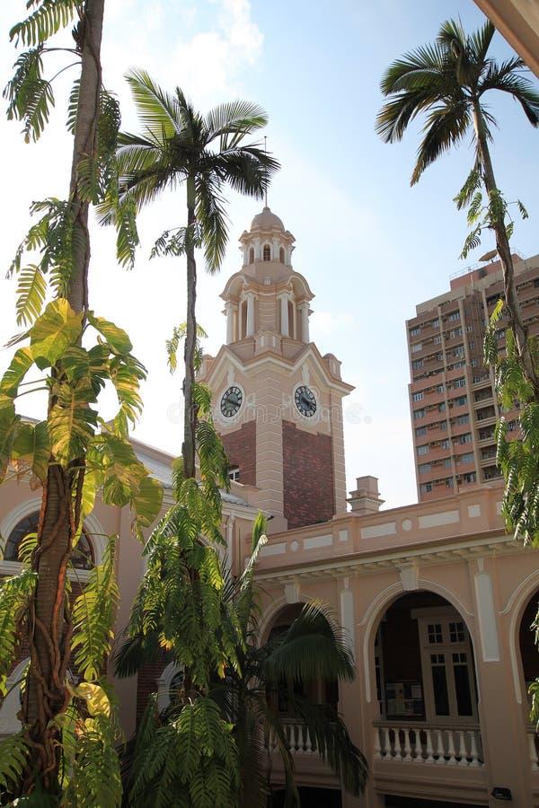 De universiteit van Hongkong stock afbeelding