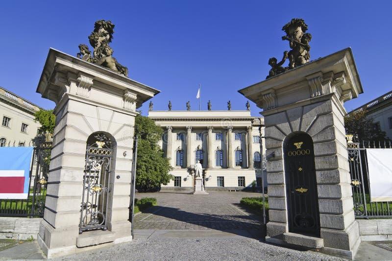 De universiteit van Humboldt in Berlijn stock foto's