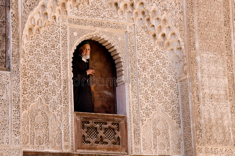 De universiteit van Kairouan in Fez, Marokko royalty-vrije stock afbeelding