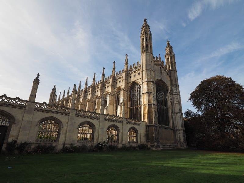 De Universiteit van de koning in Cambridge royalty-vrije stock foto