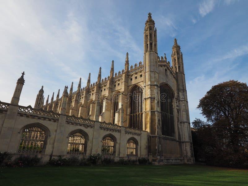 De Universiteit van de koning in Cambridge stock foto