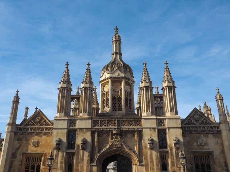 De Universiteit van de koning in Cambridge royalty-vrije stock afbeelding