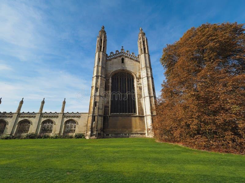De Universiteit van de koning in Cambridge stock afbeeldingen