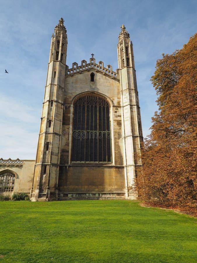 De Universiteit van de koning in Cambridge royalty-vrije stock afbeeldingen