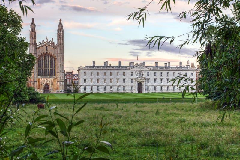 De Universiteit van de koning, Cambridge, Engeland stock foto