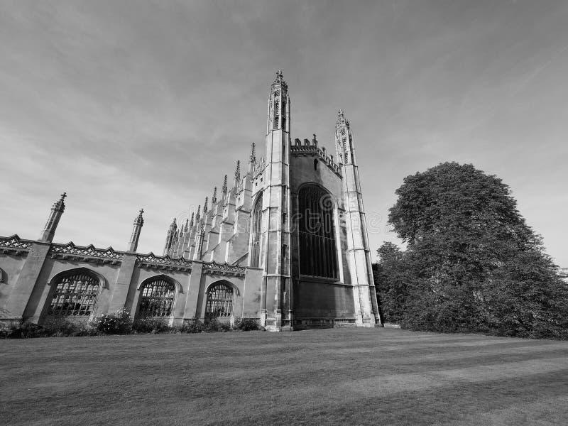 De Universiteit van de koning in zwart-wit royalty-vrije stock fotografie