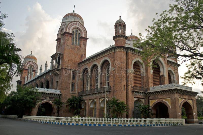 De Universiteit van Madras, Chennai, Tamil Nadu, India stock fotografie