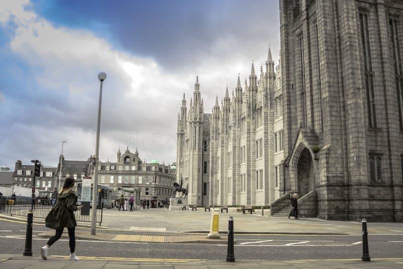 De universiteit van Marishall, Aberdeen, het UK Aberdeen, Schotland, het UK royalty-vrije stock afbeeldingen