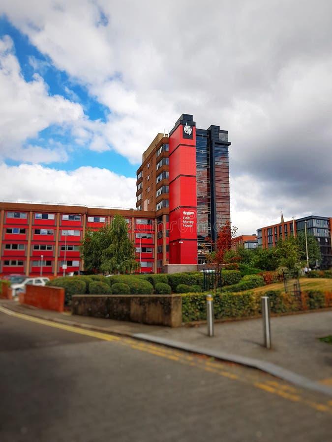 De universiteit van DE Montfort stock foto's