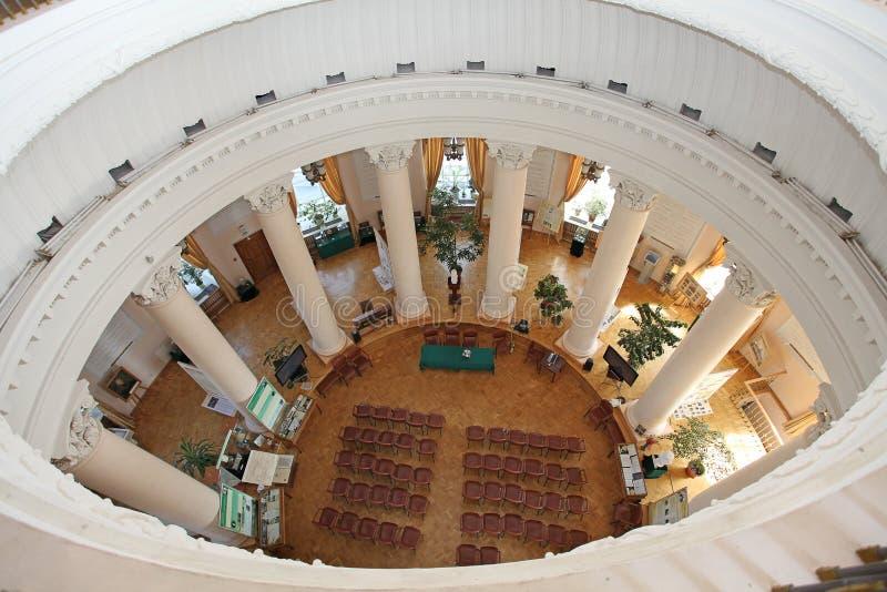 De Universiteit van Moskou binnen, Moskou stock afbeeldingen