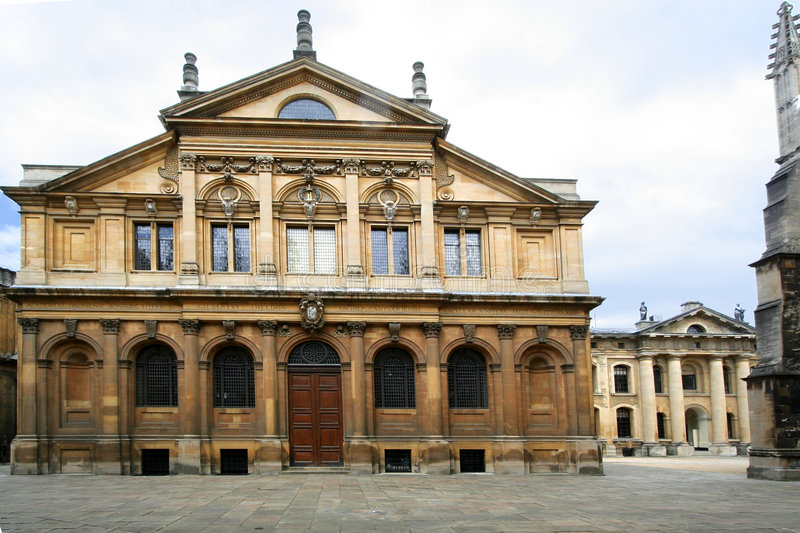 De Universiteit van Oxford, Theater Sheldonian royalty-vrije stock afbeelding