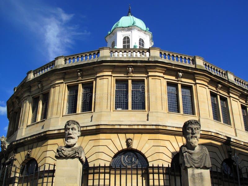 De Universiteit van Oxford van het Theater van Sheldonian stock foto