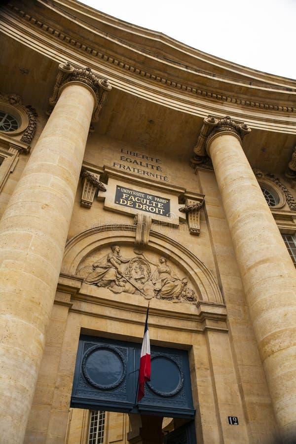 De Universiteit van Parijs, de universitaire, beroemde universiteit van Sorbonne in Parijs royalty-vrije stock foto's