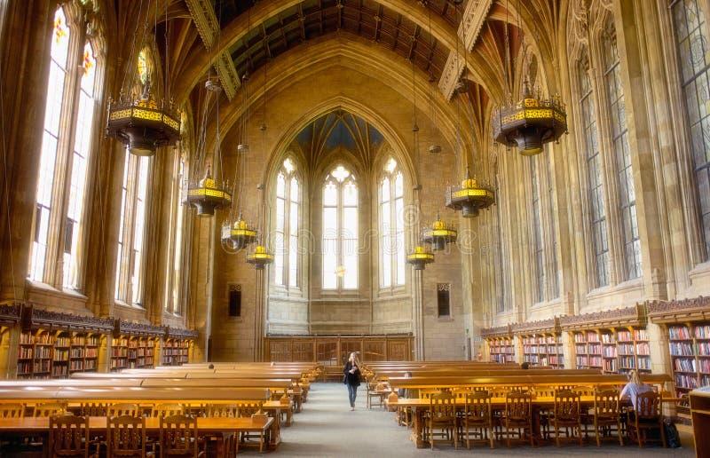 De Universiteit van Seattle van de centrale bibliotheek van Washington stock fotografie
