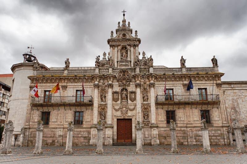 De Universiteit van Valladolid royalty-vrije stock foto's