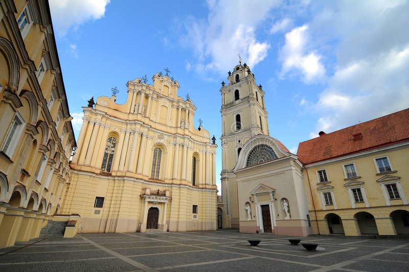 De universiteit van Vilnius stock foto's