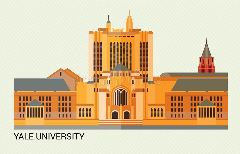De Universiteit van Yale Vector illustratie royalty-vrije illustratie