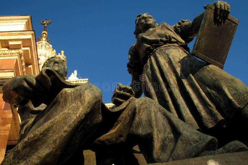 De Universiteits  Openbare universiteit van de Staat van Moskou in Moskou, Rusland royalty-vrije stock foto