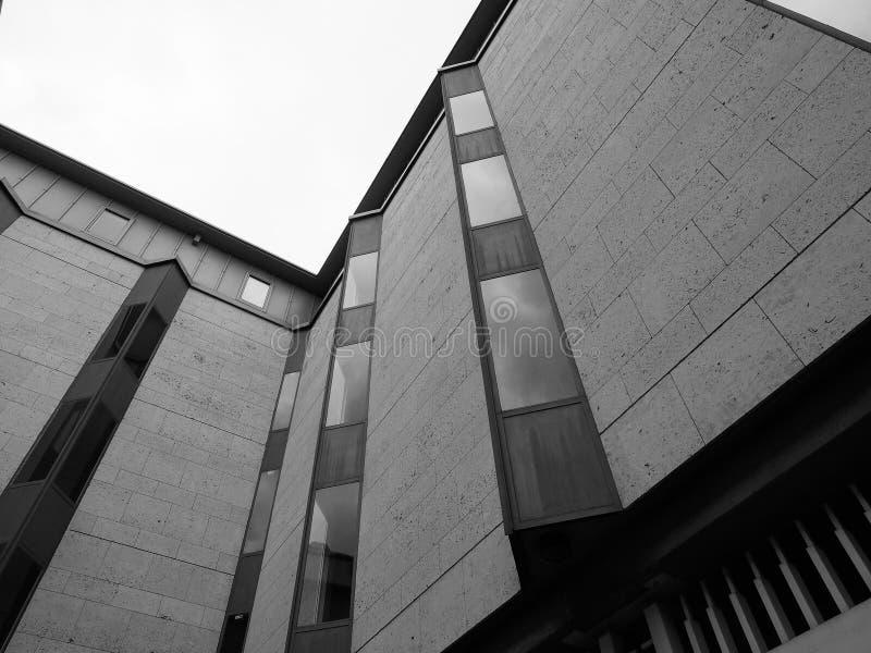 De Universiteitskeynes van de koning de Bouw in Cambridge in zwart-wit royalty-vrije stock afbeeldingen