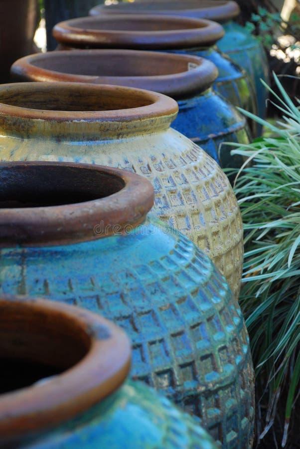De Urnen van het aardewerk stock afbeeldingen