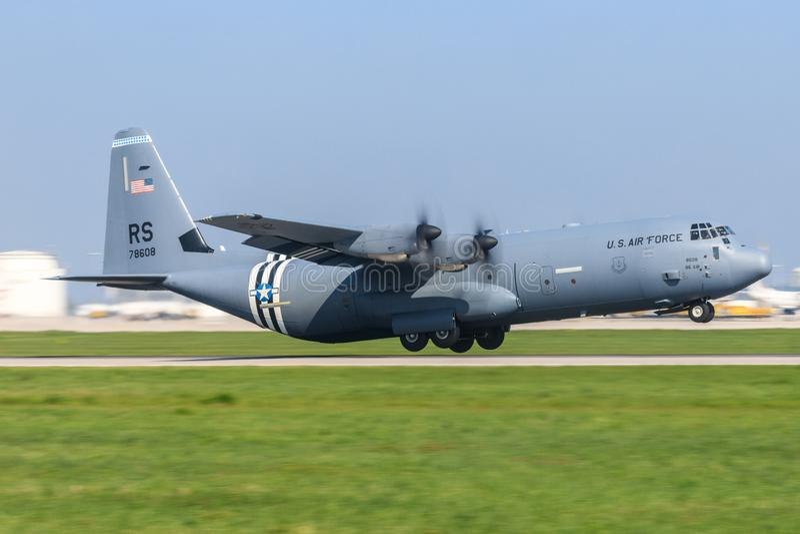 De USAF Hercules C130 stock foto