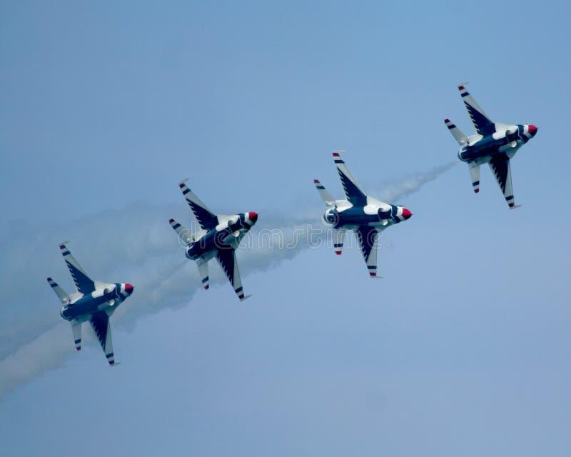 De USAF Thunderbirds royalty-vrije stock afbeelding